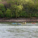 Amfibien Fahrzeug im Rhein Remagen